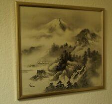 Landschaft Japanisches Gemälde Im Rahmen Bild Malerei Kunst Japan 4311
