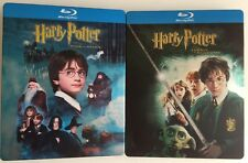 HARRY POTTER 1 et 2 – 2 BLU RAY STEELBOOK VF –  RADCLIFFE