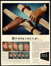 1942 GRUEN CURVEX BARONESS & CENTURION Watches *NOT A  REAL WATCH* VINTAGE AD