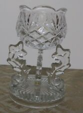 Crystal Cup Glass tealight holder with pedestal.