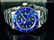 NEW Invicta Men's 40mm Pro Diver SUBMARINER Blue Dial Silver Tone 200m SS Watch