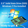 NEW SSD Windows 7 Pre-Installed Office etc Solid State Drive Laptop Desktop 2.5