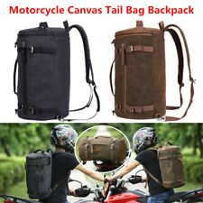 Motorcycle Bikes Washing Canvas Tail Bag Travel Luggage Outdoor Backpack Zipper
