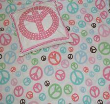 Pottery Barn Teen pbteen berkeley peace sign full queen duvet cover