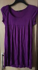 Sexy Purple Short Sleeved Dress Top Size 10