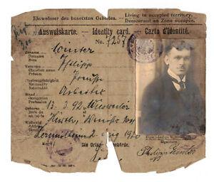 Ausweis Karte besetzte Gebiete Hürth 1920 (D6