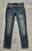 Aeropostale Skinny Jeans Distressed Stretch Denim Women's Size 000 Short