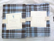 Pottery Barn Kids Kingston Shams standard -blue/brown S/2