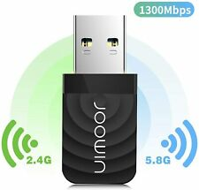 1200Mbps Wireless USB Wifi Adapter Dongle Dual Band 2.4G/5GHz Windows MAC PC
