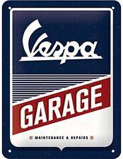 Vespa Garage  steel sign 200mm x 150mm  (na)