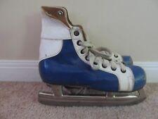 Pair of Vtg Toronto Maple Leafs Mastercraft Ice Hockey Skates-Very Good