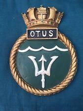 HMS Royal Navy Ship Crest Shield Plaque