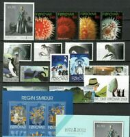 S32895 Faroe Isl MNH 2012 Year Complete 18v +3 S/S +2 S-A Note