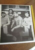 "Vintage STAR TREK Black & White Poster ~ 4 Original CREW MEMBERS 20"" x 25"""