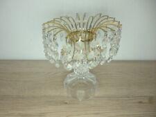 Kristallkerzenständer  Kerzenhalter Kerzenleuchter Leuchter ca.17x14cm. b88