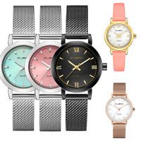 Fashion Women Temperament  Mesh Band Stainless Steel Analog Quartz Wrist Watch