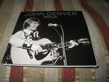 JOHN DENVER GOLD USED 2020 THREE DISC FOLK POP CARD CASE UK CD ALBUM.