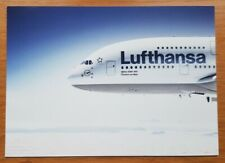 Avion Lufthansa Vol A380 Pub Carte Postale
