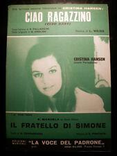 Libretto Ciao ragazzino La voce del padrone Spartito Musicale Canzone