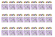 Bingo Cards & Dabber A4 Edible Icing Cake Side Strips / Ribbon birthday 3 strips