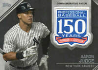 AARON JUDGE 2019 Topps SERIES 2 150th Anniversary PATCH CARD AMP-AJ YANKEES