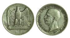 pci0261) Regno Vittorio Emanuele III lire 5 aquilino 1926 Bordo Largo
