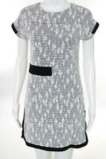 Raoul White Black Textured Everly Shift Dress Size 2 New $390 10246106