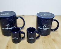 Boeing Coffee Mugs Tea Cups Toothpick Holders Aerospace Vintage