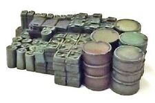 Milicast ACC96 1/76 Resin WWII British Mixed Load of Oil Drums+Fuel Cans for GS