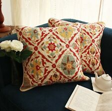Shabby Chic French Country Ethnic Boho Cottage Floral Throw Pillow Cushion Cover