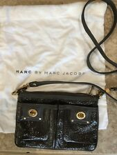 Marc Jacobs Percy Turnlock Brown Crossbody Bag w/ removable strap gold hardware