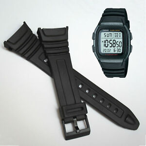 Black Resin Watch Strap For CASIO W96 W-96H W96H 577EA1 Rubber Replacement Band