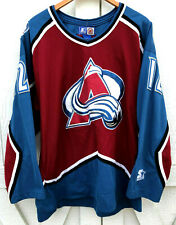 Chris Simon Colorado Avalanche Rare Vintage NHL Starter Hockey Jersey Adult L