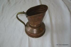 Vintage Handmade Beaten Copper Pitcher/Watering Can Needs Soldering