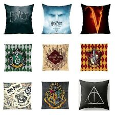 17.7'' Harry Potter Sofa Pillow Case Back Cushion Cover Cotton Linen Home Decor#