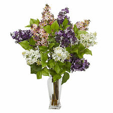 Lilacs Faux Silk Flower Arrangement Nearly Natural MPN 1256 Assorted Color 24 in