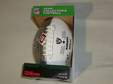 OAKLAND RAIDERS AUTOGRAPHED TEAM FOOTBALL SIGNED NFL JASON CAMPBELL ZACH MILLER
