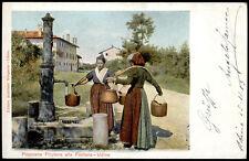 cartolina UDINE popolane friulane alla fontana