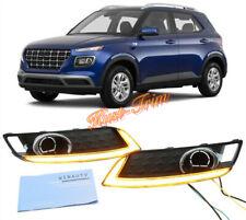 Fit For Hyundai Venue 2020 LED Front Bumper Fog Lights Daytime Running Lights