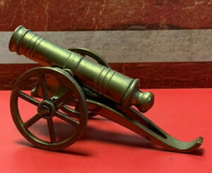 Collectible Vtg Brass/Cast Iron Toy Mini Cannon