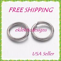 7mm 50pcs .8mm 20ga 304 Surgical Stainless Steel Open Jump Rings FREE SHIP