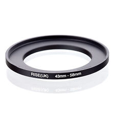 43mm to 58mm 43-58 43-58mm43mm-58mm Stepping Step Up Filter Ring Adapter