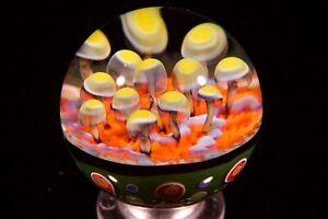 Jsg-justinsglass, Mushroom Marble, handmade glass marble, art/gift