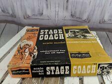Heritage house stagecoach kit wooden model 71 vintage