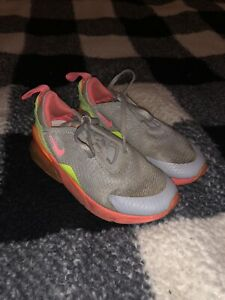 Nike AO2372 003 Air Max 270 Gray Neon Pink AirMax  Kids Running Shoes Size 11C