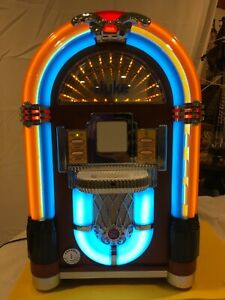 Crosley Original iJuke Jukebox Apple iPod Music Color Lights CR17 W/Plug Remote