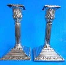 Quality Edwardian Era Ornate EP Silver Candlesticks England 1900s
