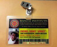 """Buckaroo Banzai ID Badge - Banzai Institute Sidney """"Jersy"""" Zweibel cosplay"""