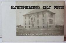 Hilbert Junction Wisconsin Wi Photo Postcard St Marys Catholic Church School Jct