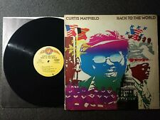New listing CURTIS MAYFIELD BACK TO THE WORLD LP SOUL R&B 70'S